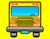 Front view of scholar bus — Vector de stock