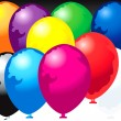 Ten balloons - Stock Vector