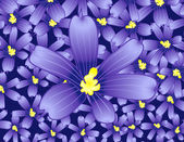 Violet flower — Vector de stock
