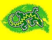 Green gecko — Stock Vector
