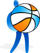 Basketball-spieler — Stockvektor