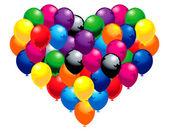 Balloon heart — Stock Vector