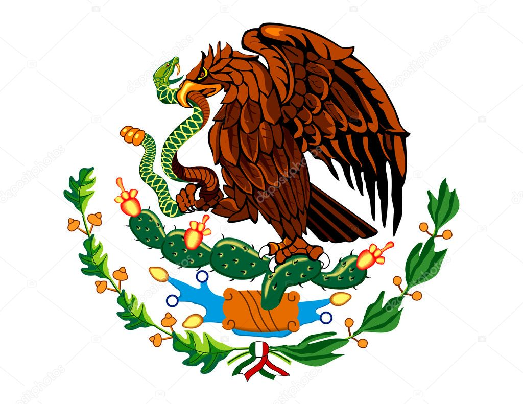 Stock Illustration Mexican Flag Symbol on old radio scripts free