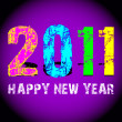 Grunge 2011 new year logo — Stock Photo #1536097