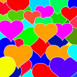 Hearts pattern — Stock Photo