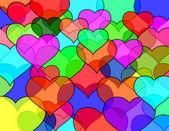 Glass heart pattern — Stock Photo