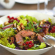 Stock Photo: Salad with grilled meat