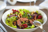 Salad with grilled meat — Stock Photo