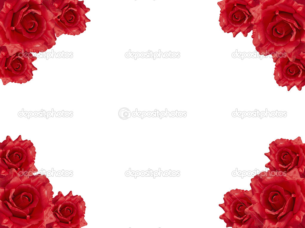 Rose frame — Stock Photo #1526533