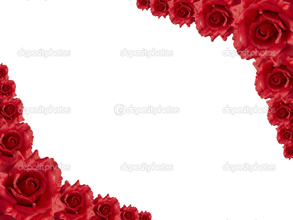 Rose frame - Stock Image