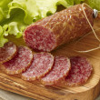 Stock Photo: Sliced salami
