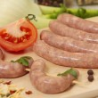 Raw sausages — Stock Photo