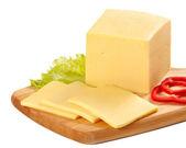 Sliced cheese — Stock Photo