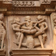 Erotic temples in Khajuraho — Stock Photo #1365381