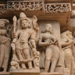 Erotic temples in Khajuraho — Stock Photo