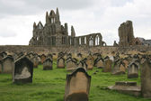 Monastery graveyard, Whitby, UK — Stock Photo