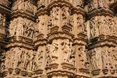 Erotycznych świątyń w khajuraho — Zdjęcie stockowe