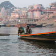 Boat ride on the Ganges river — Foto de Stock