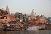 Varanasi wharf — Stock Photo