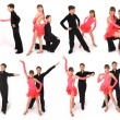 Boy and girl dancing ballroom dance — Stock Photo #1415110
