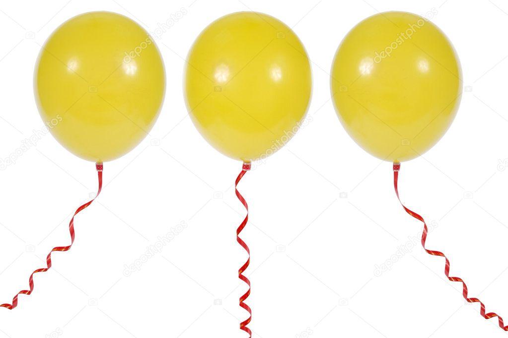 孤立在白色背景上的气球