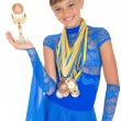 Many gold, silver, and bronze medals — Stock Photo #1421197
