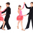 Boy and girl dancing ballroom dance — Stock Photo #1426424