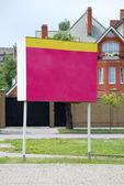 Red billboard — Stock Photo