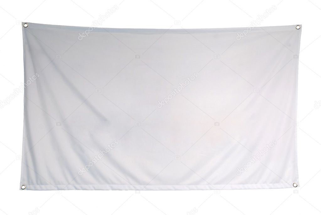 The empty flag is isolated on a white background — Stock Photo #1422014