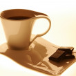 Stock Photo: A cup of chocolate