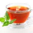 Tea cup with mint leaves — Stock Photo #1562415