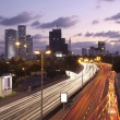 Tel Aviv at sunset — Stock Photo