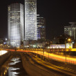 Tel Aviv night city - Stock Photo