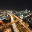 Tel Aviv at Night - Stock Photo