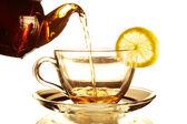 Teapot and Teacup — Stock Photo