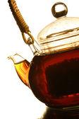 Teapot on a white background — Stock Photo