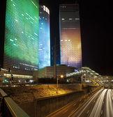 Tel Aviv night city — Stock Photo