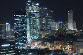 The Tel aviv skyline - Night city — Stock Photo
