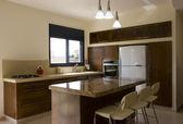 Kitchen the new design — Stock Photo