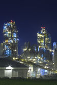 Factory / Chemical Plant At Night — Stock Photo