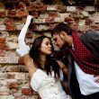 Stock Photo: Couple bride groom wedding