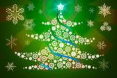 Tree of snowflakes — Stock Photo