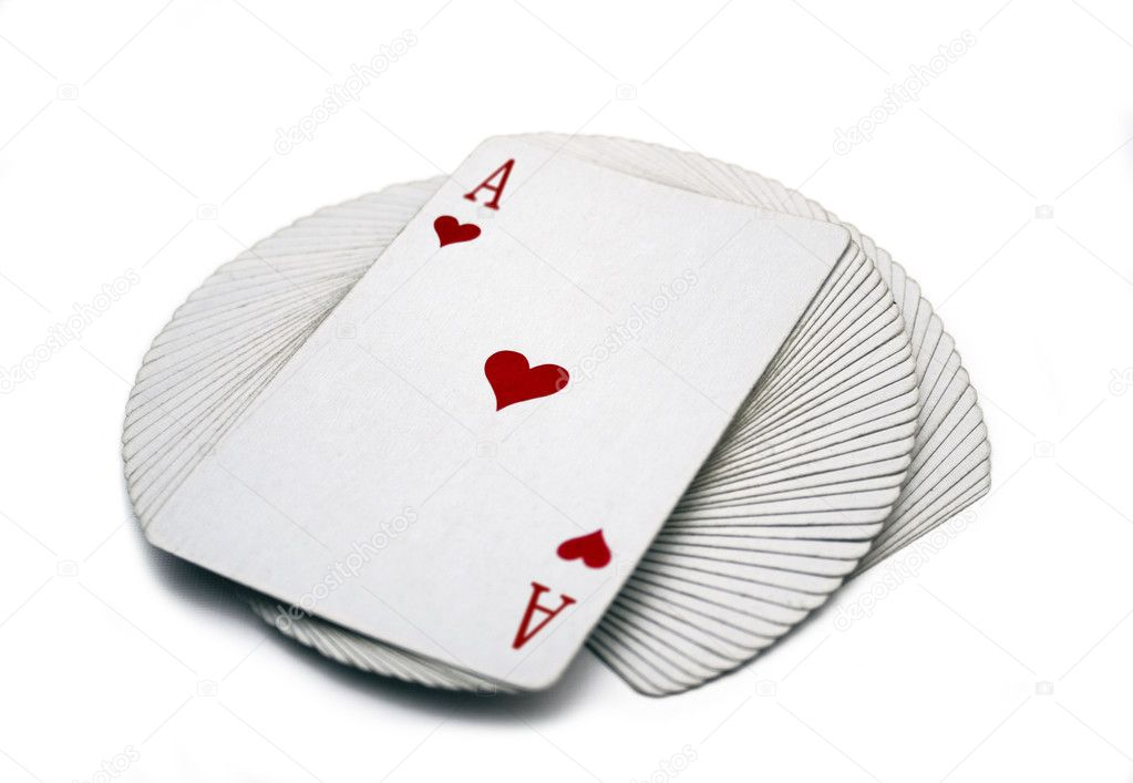 Pack of playing cards on a table — Stok fotoğraf #1526946