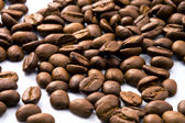 Dark Roasted coffee beans closeup — Stock Photo