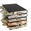 Royalty-Free Stock Photo: Dollars in the books
