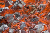 The background of smoldering coal — Stock Photo
