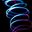 Chaotic colorful lights - Stock Photo