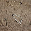 Stock Photo: Traces on sand.