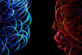 Chaotic colorful lights — Stock Photo