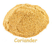 Spice - coriander on a white background. — Stock Photo